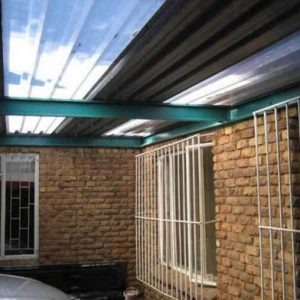 CLEAR POLYCARBONATE AND GALVANIZED IBR